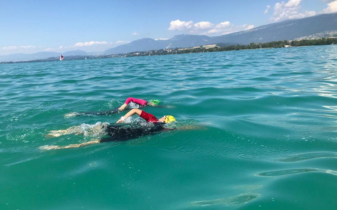 Traversée du lac de Neuchâtel à la nage