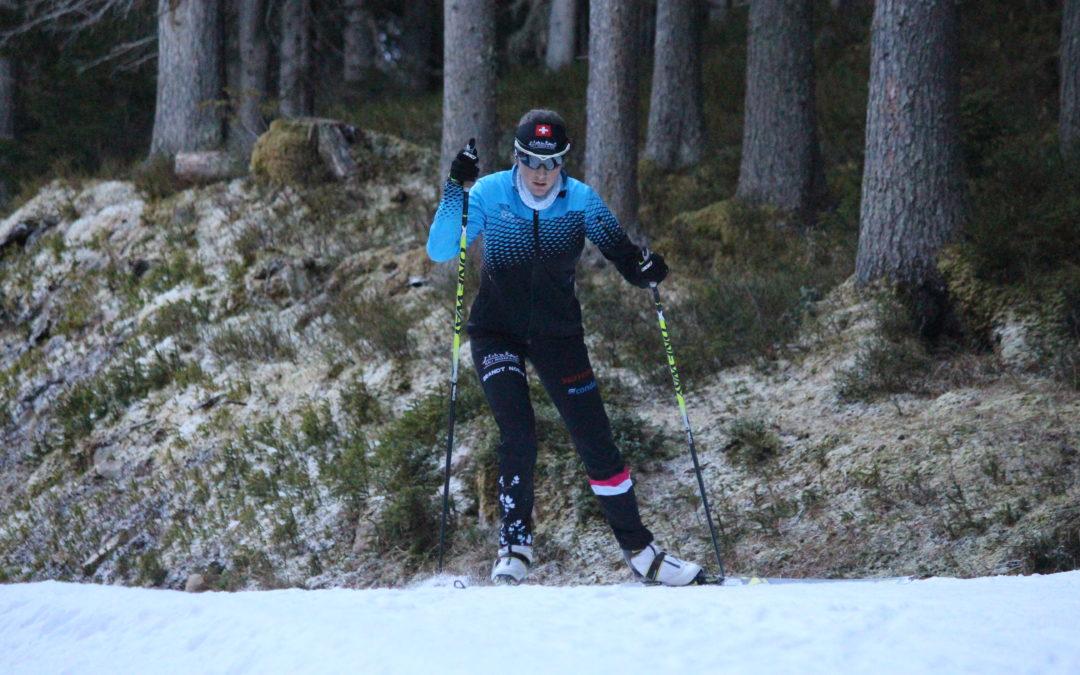 A nouveau sur les skis